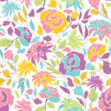 Seamless pattern with doodle flowers Stock Image