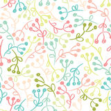 Seamless pattern with doodle flowers. Royalty Free Stock Photo