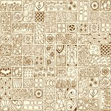 Seamless pattern with doodle frames. Royalty Free Stock Images