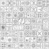Seamless pattern with doodle frames. Royalty Free Stock Photos