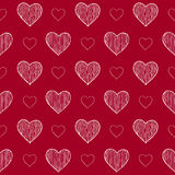 Seamless pattern with doodle hearts Stock Photos