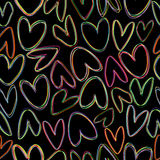 Seamless pattern with doodle hearts Royalty Free Stock Photography