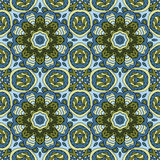 Seamless pattern doodle ornament. Colorful background. Ethnic motives Royalty Free Stock Photos