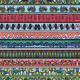 Seamless pattern with doodle ornaments. Stock Image