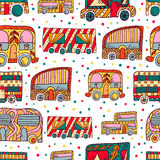 Seamless pattern with doodle recreational vechicles Stock Photography
