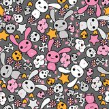 Seamless pattern with doodle. Vector kawaii Royalty Free Stock Image
