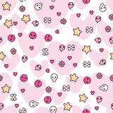 Seamless pattern with doodle. Vector kawaii Royalty Free Stock Photos
