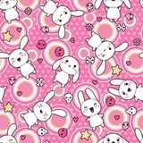 Seamless pattern with doodle. Vector kawaii Royalty Free Stock Photo