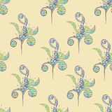 Seamless pattern Doodles abstract decorative sketch  background Royalty Free Stock Images