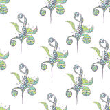 Seamless pattern Doodles abstract decorative sketch  background Royalty Free Stock Image
