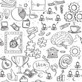 Seamless pattern of doodles on business and money theme Royalty Free Stock Photo