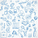 Seamless pattern of doodles on business theme Royalty Free Stock Photography