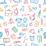 Seamless pattern doodles elements. Royalty Free Stock Images