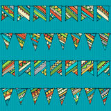 Seamless pattern of doodles garlands. Stock Photography