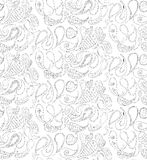 Seamless pattern doodles, zentangle, vector, illustration, freeh Royalty Free Stock Photos