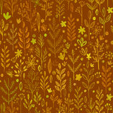 Seamless pattern, doodling fall grass design Royalty Free Stock Photos