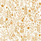 Seamless pattern, doodling fall grass design Stock Images