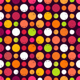 Seamless pattern with dots. Seamless pattern with grunge dots. Polka dot. Vector illustration Royalty Free Stock Photo