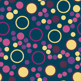 Seamless pattern with dots, points, circles, rounds Stock Photography