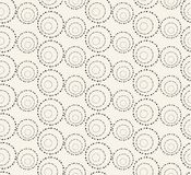 Seamless pattern with dotted circles. Vector Royalty Free Stock Image