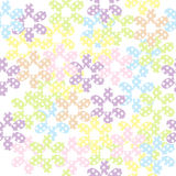 Seamless pattern with dotted flowers, background for kids Stock Image