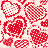 Seamless pattern with dotted heart Stock Photos