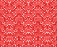 Seamless pattern with dotted scales. Vector repeating texture. Stylish red monochrome background Royalty Free Stock Photo