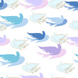 Seamless pattern with dove. Royalty Free Stock Photography