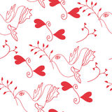 Seamless pattern with  dove of peace Stock Photography