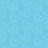 Seamless pattern with doves. Vector illustration. Royalty Free Stock Images