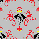 Seamless pattern with dragon Royalty Free Stock Photography