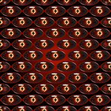 Seamless  pattern - dragon eyes. Seamless pattern -reminiscent of a dragon or snake  eyes on red-black gradient background Royalty Free Stock Photography