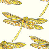 Seamless pattern with dragonflies. Vector illustration, template for decoration and design Royalty Free Stock Image