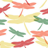 Seamless pattern with dragonflies. Vector illustration, template for your decoration and design Stock Photo