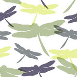 Seamless pattern with  dragonflies. Vector illustration. Template for your decoration and design Royalty Free Stock Photos