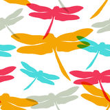 Seamless pattern with  dragonflies. Vector illustration. Template for your decoration and design Royalty Free Stock Photo