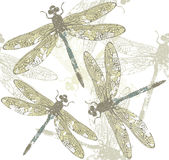 Seamless pattern with dragonfly's. Seamless pattern with dragonfly Royalty Free Stock Photo