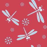Seamless pattern with dragonfly Royalty Free Stock Photography