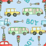Seamless pattern. Drawing for children. Royalty Free Stock Photography