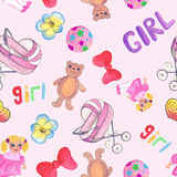 Seamless pattern. Drawing for children. Stock Photography