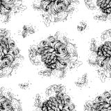 Seamless pattern from drawing fantasy flower Stock Photography