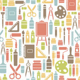 Drawing icons pattern Stock Images