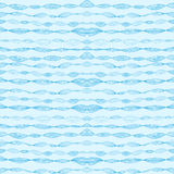 Seamless pattern with drawing waves Stock Photo