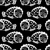 Seamless pattern with dream fish. vector. marinelife. Seamless pattern with dream fish. vector. black and white vector illustration