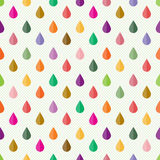 Seamless pattern with drops Stock Photos