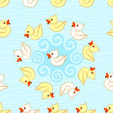 Seamless pattern with ducks Stock Images