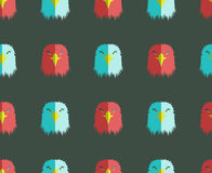 Seamless pattern with eagle head. Abstract symbol face bird Royalty Free Stock Photos