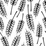 Seamless pattern with ears of wheat Stock Photo