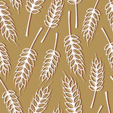 Seamless pattern with ears of wheat Royalty Free Stock Image