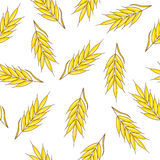 Seamless pattern with ears of wheat. Stock Photo